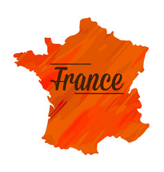 isolated french map vector image vector image