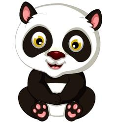 panda cartoon sitting vector image vector image