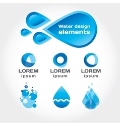 Water drop for info graphic or logo vector image