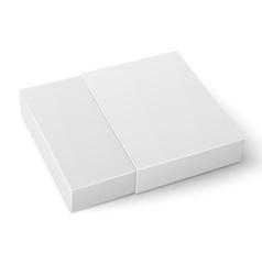 White sliding cardboard box template vector image vector image