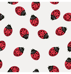 Seamless pattern background with ladybugs vector image vector image