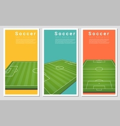 Set of Football field graphic background 3 vector image