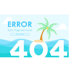 404 deserted island vector image