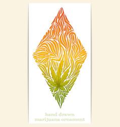 Abstract Ornament of Marijuana vector