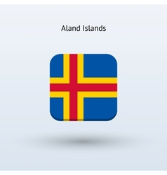 Aland Islands flag icon vector