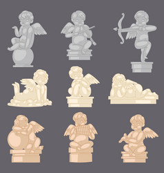 Angel statue angelic cupid sculpture and vector