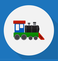 Automobile symbol on train vector