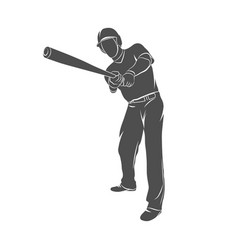 baseball player ball vector image