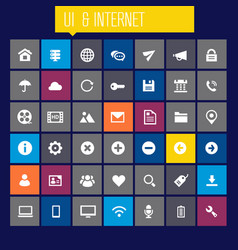 big ui and internet icon set vector image