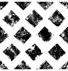 Black and white grunge squares print geometric vector