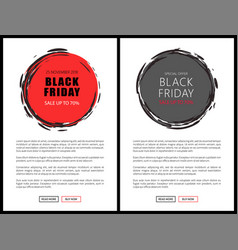 black friday price reduction badges on web pages vector image