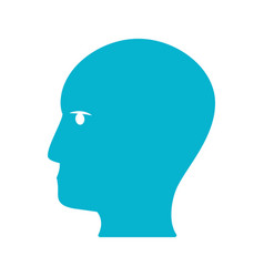 blue human head idea icon vector image