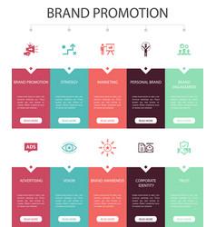 Brand promotion infographic 10 option ui design vector