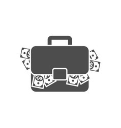 briefcase with money vector image