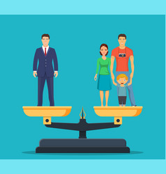 businessman and happy family vector image