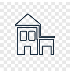 Cabin concept linear icon isolated on transparent vector