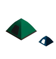 camping tent isolated on white background vector image