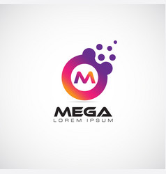 Colorful initial letter m logo template vector