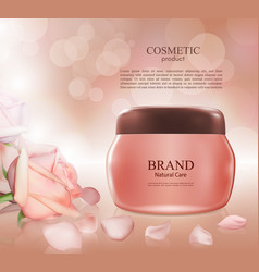 Cosmetic ads postermoisturizing nourishing cream vector