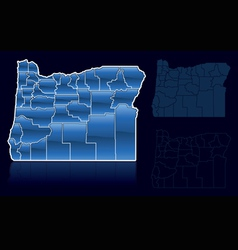 Counties of oregon vector