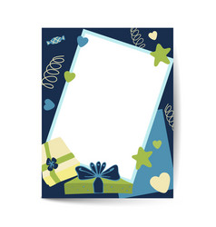 dark blue holiday background birthday vector image