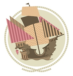 Decorative Sailing ship vector