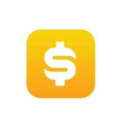 dollar money symbol combined with square vector image