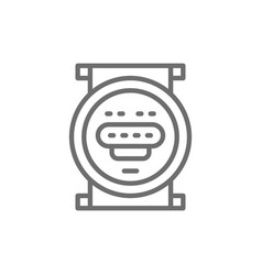 domestic water meter line icon vector image