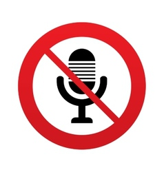 Dont record Microphone icon Speaker symbol vector