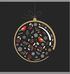 elegant gold and black christmas ornament with vector image