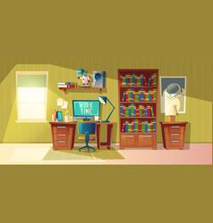 Empty home office for freelance job vector