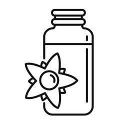 Essential oils flower pot icon outline style vector