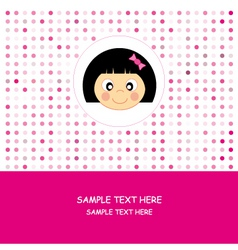 face baby girl vector image