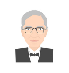 Famous scientist portrait vector