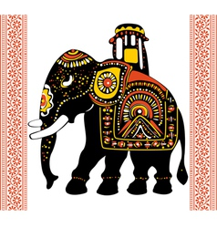 Festive indian elephant vector