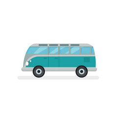 flat icon small retro van motor vehicle vector image