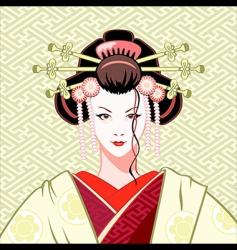 Geisha modern vector