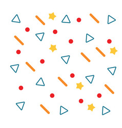 geometric background template design vector image