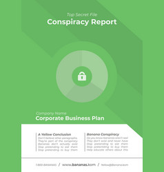 green business cover template vector image