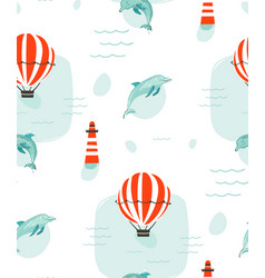 hand drawn abstract cute summer time vector image