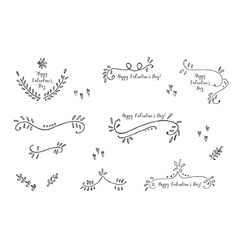 Hand drawn vintage floral cards templates vector