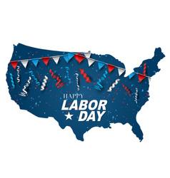 happy labor day usa county shape vector image