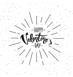 Happy Valentines Day Hand Lettering vector