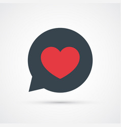 heart in bubble social symbol trendy colored vector image