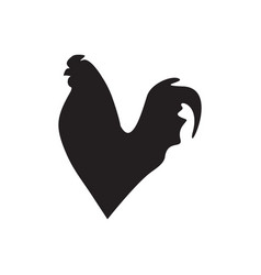 hen silhouette design template isolated vector image