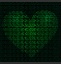 imaginative cyber heart vector image vector image