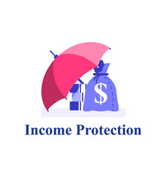 Income protection financial coverage vector
