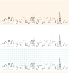 Indianapolis hand drawn skyline vector