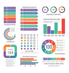 infographic modern workflow marketing diagram vector image