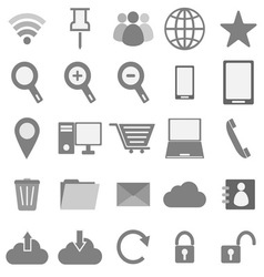 Internet icons on white background vector image